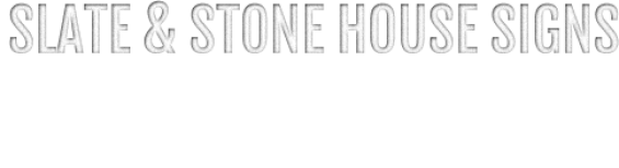Slate and Stone House Signs by Letter Font